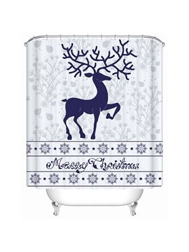 Merry Christmas Theme 3D Printing Bathroom Shower Curtain
