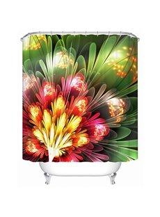 Colored Draw Flower Print Bathroom Shower Curtain