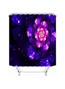 Amazing Purple Flower Print 3D Bathroom Shower Curtain