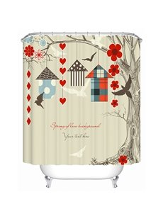 Clip Art Sweaty House Print Bathroom Shower Curtain