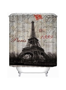 The Eiffel Tower in 1889 Print 3D Bathroom Shower Curtain