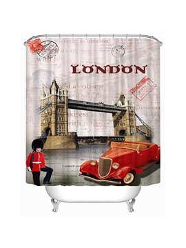 The Symbol of UK Print 3D Bathroom Shower Curtain