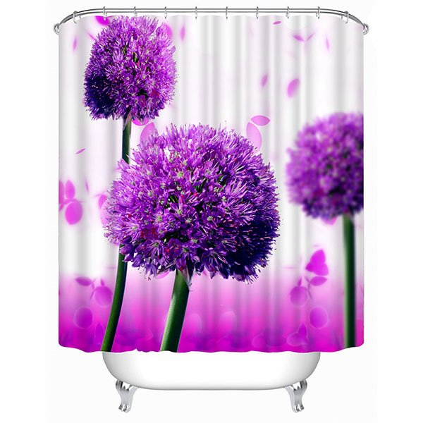 Gorgeous Purple Allium Giganteum Print 3d Bathroom Shower
