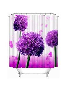 Gorgeous Purple Allium Giganteum Print 3D Bathroom Shower Curtain