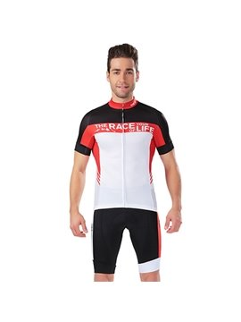 Male Quick-Dry Short Sleeve Jersey Outdoor Bicycle Sponged Short Cycling Suit