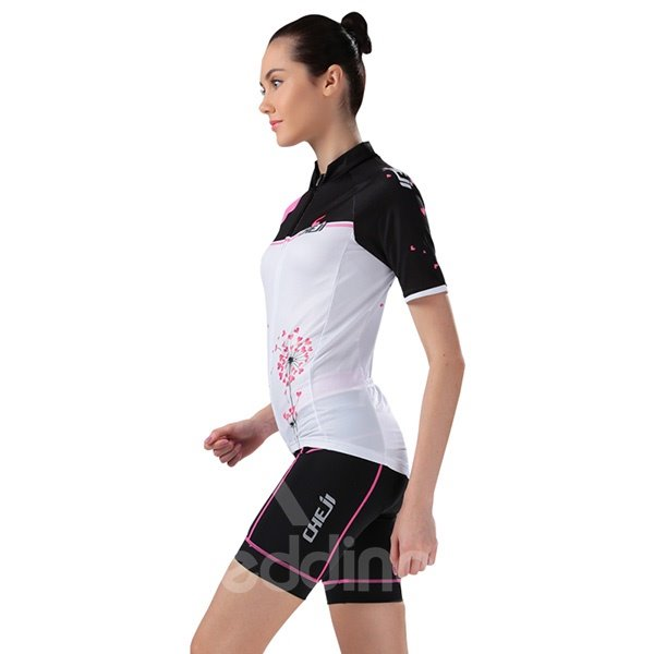 Female Breathable Dendeline Road Bike Jersey with Zipper 3D Padded Cycling Suit