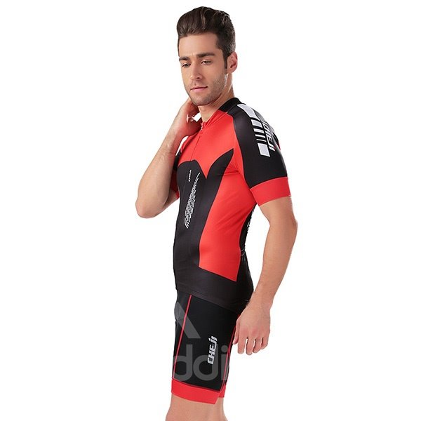 Male Breathable Quick Dry Bike Sponged Short 3D Padded Short Sleeve Cycling Short