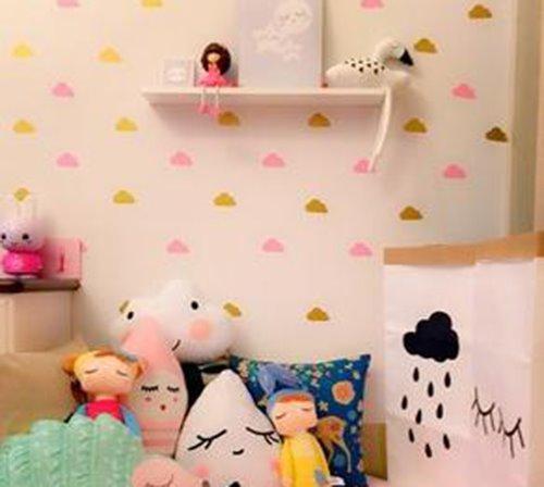 Super Fun Kids Room 21-Piece Sky Cloud Wall Decal Kit