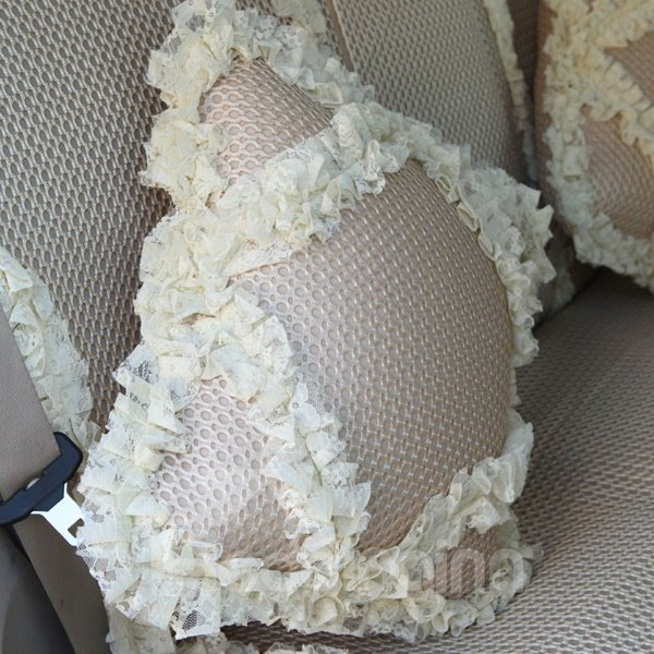 Environmental Protection Material With Lace Design Most Popular Car Pillow