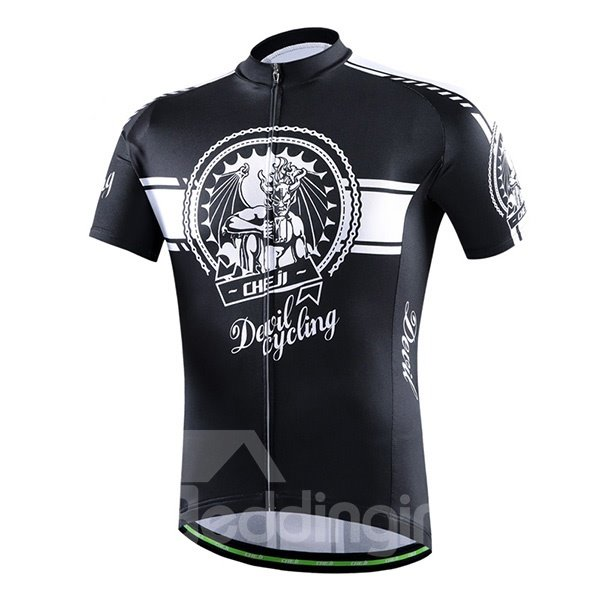 Male Beer Bottle Breathable Bike Jersey with Zipper Sponged Short Cycling Suit