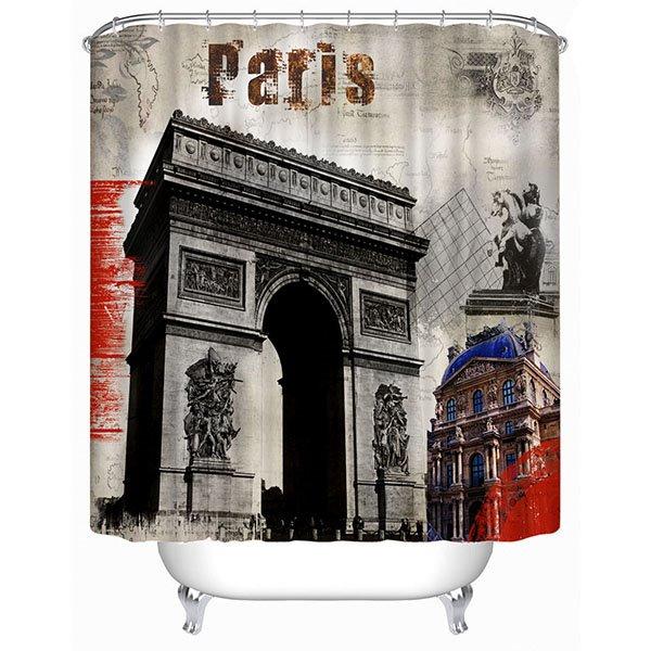 Paris Arc de Triomphe Print 3D Bathroom Shower Curtain