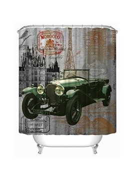 Special Design Antique Car Print 3D Bathroom Shower Curtain