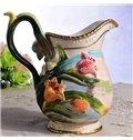 Handmade Ceramic Tulip Pattern Flower Vase Painted Pottery
