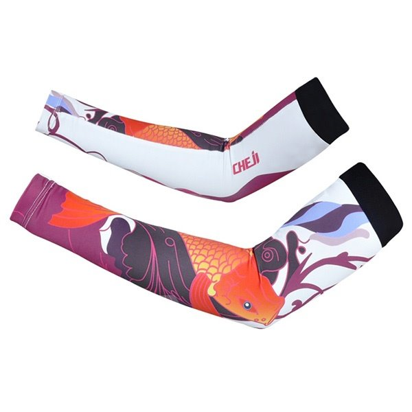 Female Crap Pattern Road Bike UV Protection Cycling Cooling Arm Sleeve