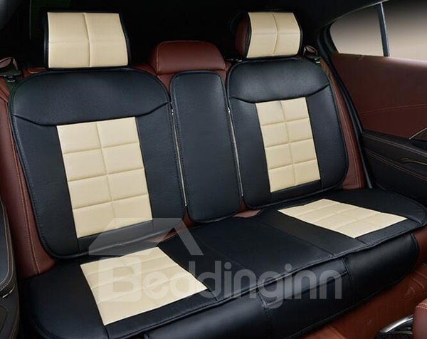 Classic 3D Stereoscopic Design Luxurious Genuine Leather Universal Car Seat Cover