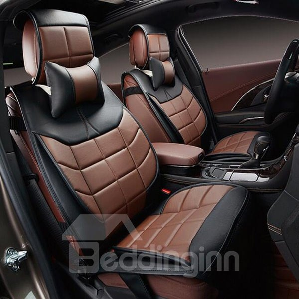 3d stereoscopic microfiber leather high cost effective universal car seat cover. Black Bedroom Furniture Sets. Home Design Ideas