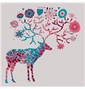 Modern Simple Northern Europe Elk Pattern Wall Art Print
