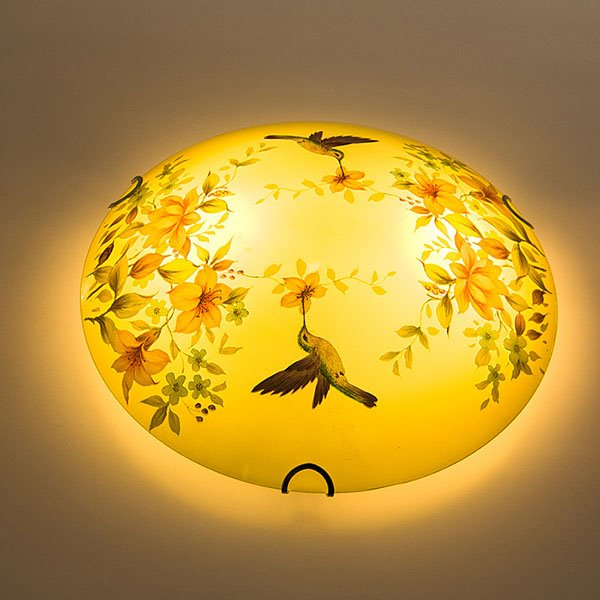 Beautiful European Style Singing Birds and Fragrant Flowers Ceiling Light