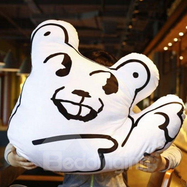 Creative Funny Facial Expression Design Throw Pillows