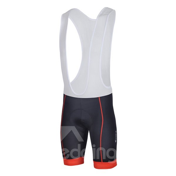 Male White Geometrical Breathable Bike Jersey Quick-Dry Cycling Bib Shorts Suit