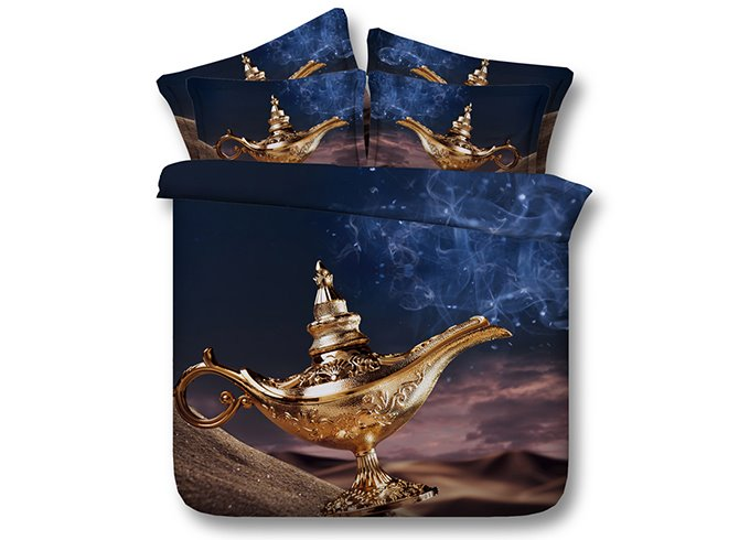 Creative Lamp of Aladdin 3D Digital Printing 4-Piece Bedding Sets