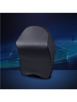 Luxurious Genuine Leather Durable Classic Design Headrest Car Pillow