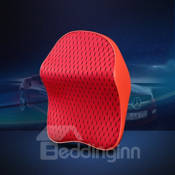 Easy Breathable And Most Comfortable Leather Net Material Car Pillow
