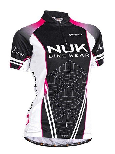 Female Black Road Bike Wear Short Sleeve Jersey with Full Zipper Cycling Jersey