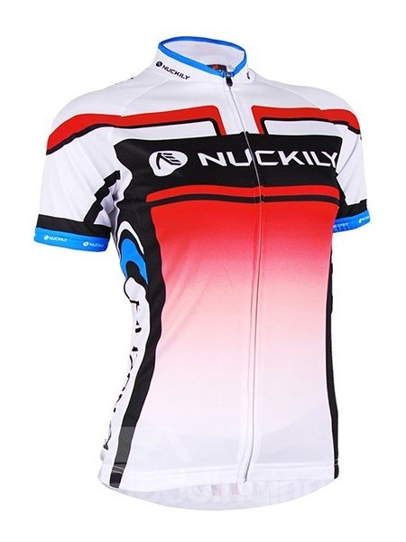 Female Red Breathable Bike Full Zipper Jersey Quick-Dry Cycling Bib Shorts Suit