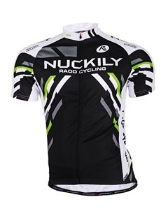 Male Black Streamline Breathable Road Bike Jersey Full Zipper Quick-Dry Cycling Jersey