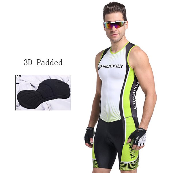 Male Breathable Sponged Road Bike Suit Absorbent Outdoor Cycling Jumpsuit