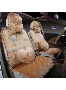 Colorful And Princess Wind Cute Beautiful Girl Cartoon Pattern Universal Car Seat Cover