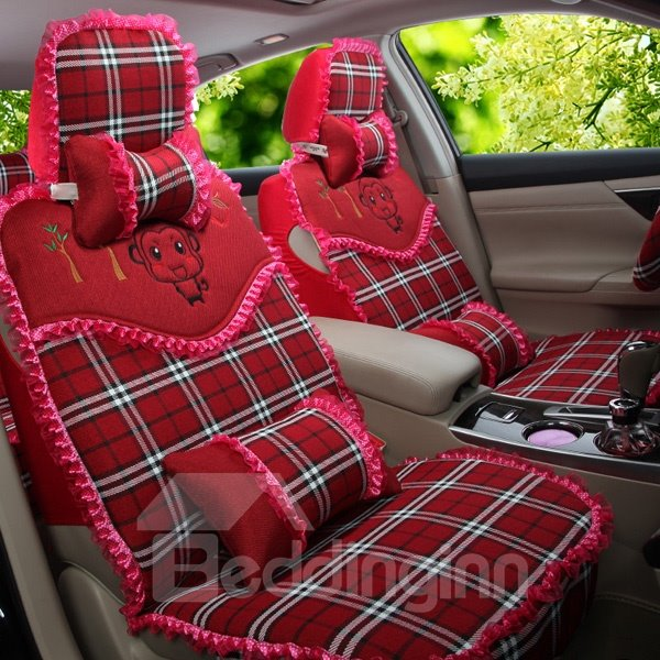 High-Grade Cloth With Cute Cartoon Pattern Popular Universal Car Seat Cover