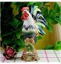 Creative Ceramic Cock Shape Desktop Decoration Painted Pottery