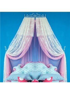 Sweet Double Layers Preferred Fabric Kids Bed Canopy