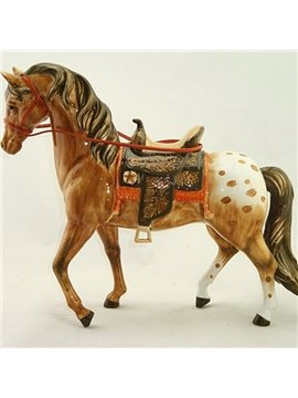 Bronze Ceramic Horse Desktop Decoration Painted Pottery