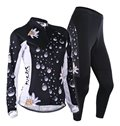 Female Drop and Daisy Breathable Bike Jersey with Full Zipper Quick-Dry Cycling Suit