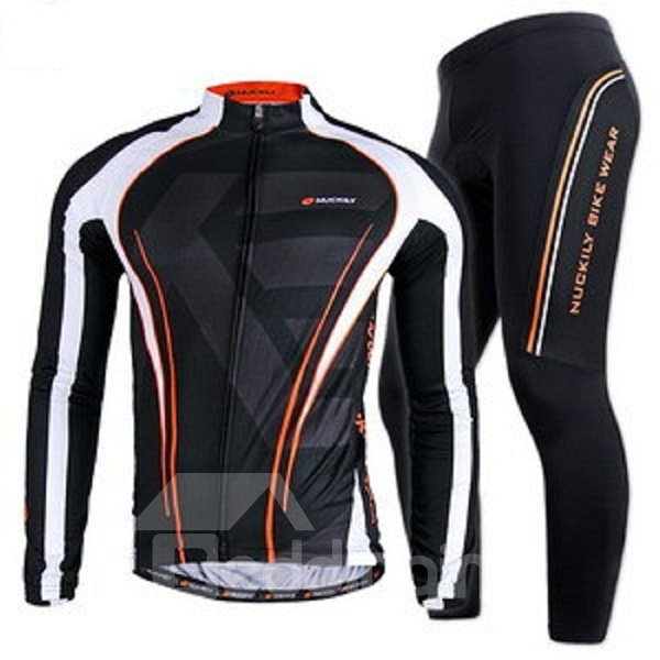Male Black Quick-Dry Bike Jersey with Full Zipper Breathable Cycling Jersey