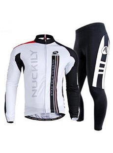 Male Breathable Long Sleeve Jersey with Full Zipper Quick-Dry 3D Padded Cycling Suit