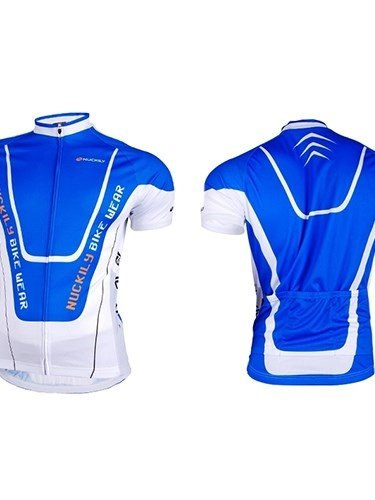 Male Streamline Quick-Dry Bike Cloth with Full Zipper Breathable Cycling Jersey