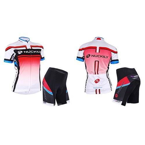 Female Full Zipper Breathable Bike Jersey Bicycle Sponged Shorts Quick-Dry Cycling Suit