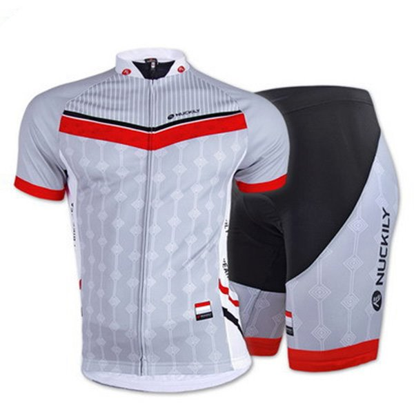 Male Gray Breathable Road Bike Jersey with Full Zipper 3D Padded Quick-Dry Cycling Suit