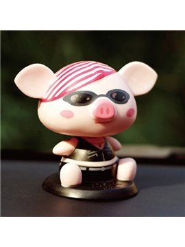 Fashionable And Cool Pig Cartoon Style Creative Car Decor