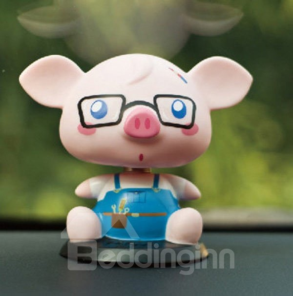 Cute Pig Baby Wearing Glasses Attractive Car Decor