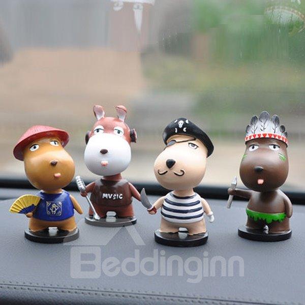 Popular Fashional Pig Cartoon Singer Creative Car Decor