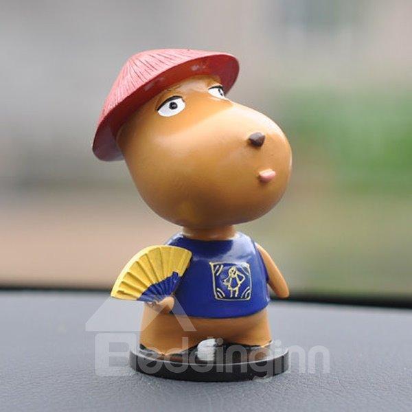 Cute Cartoon Dog With Dinette And Hats Creative Car Decor