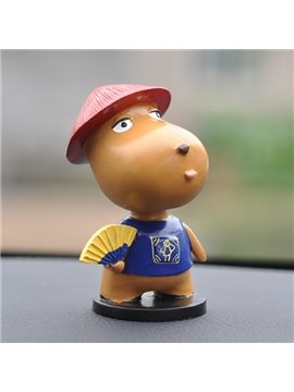 Cute Cartoon Dog With Dinette And Hats Creative Car Decor
