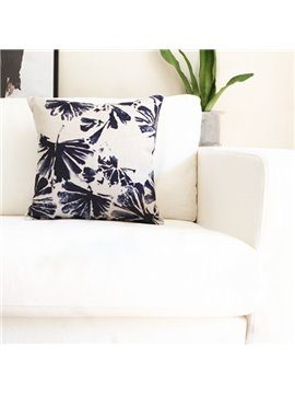 Chic Tie-dyed Folium Ginkgo Decorative Throw Pillow