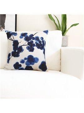 Lovely Tie-dyed Indigo Grape Throw Pillow