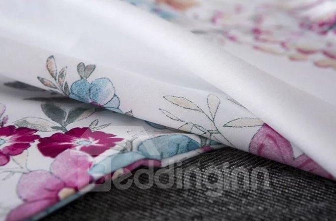 American Pastoral Style Flower Print 4-Piece Duvet Cover Sets